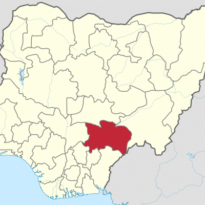 benue state on map of nigeria